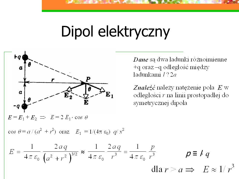 Dipol elektryczny p l q