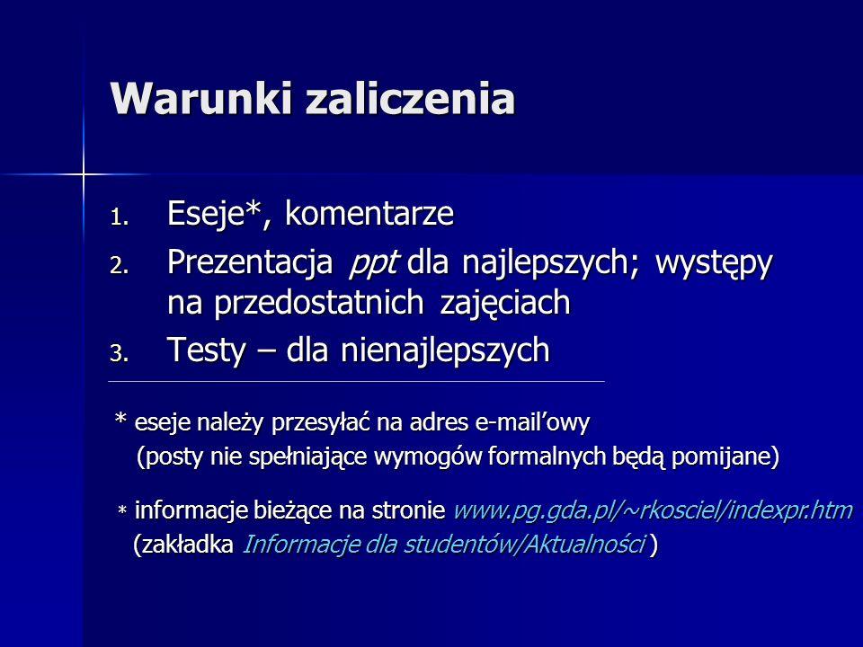 Dostęp do ocen www.pg.gda.pl/~rkosciel/indexpr.htm