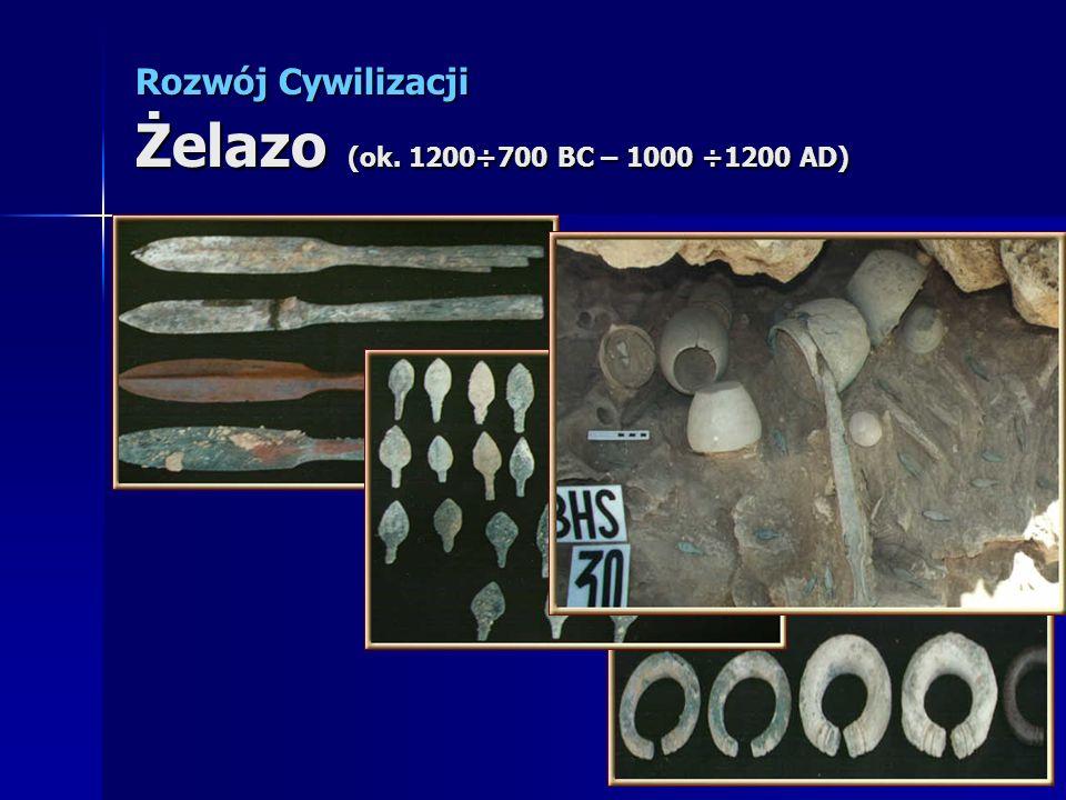 Rozwój Cywilizacji Żelazo (ok. 1200÷700 BC – 1000 ÷1200 AD)