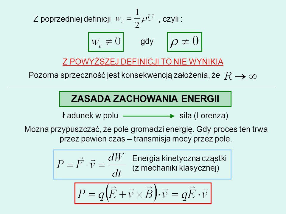 Z poprzedniej definicji, czyli : gdy Z POWYŻSZEJ DEFINICJI TO NIE WYNIKIA Pozorna sprzeczność jest konsekwencją założenia, że ZASADA ZACHOWANIA ENERGI