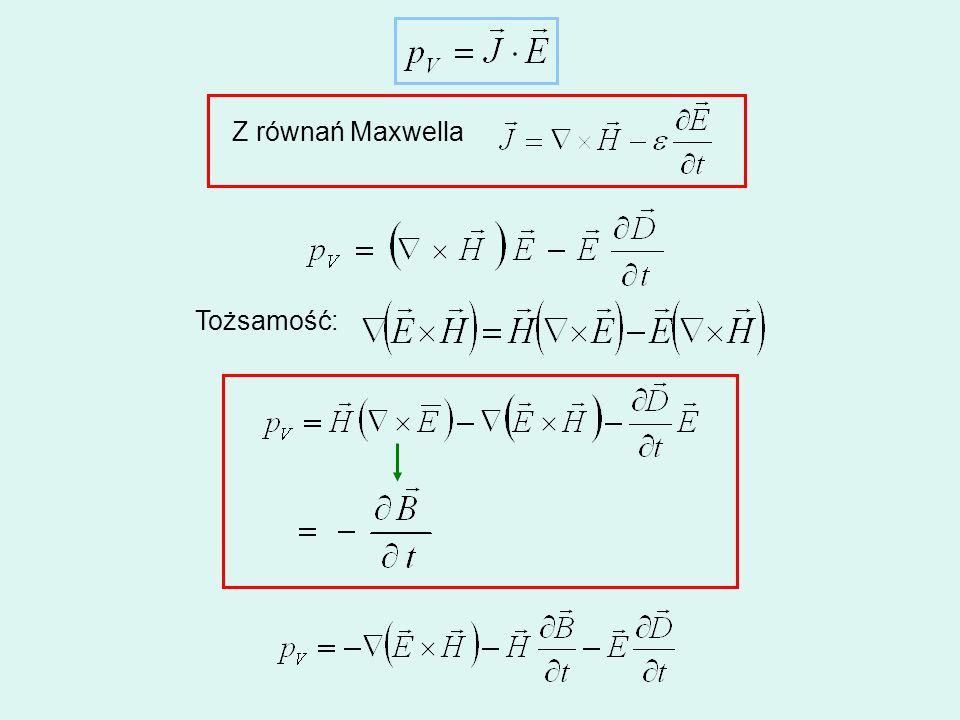 Z równań Maxwella Tożsamość: