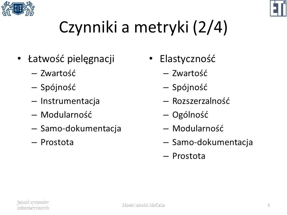 Modularność (modularity) niezależność funkcjonalna komponentów programowych – Czy system składa się z modułów.