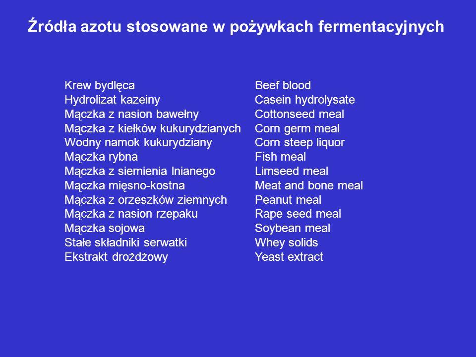 Krew bydlęcaBeef blood Hydrolizat kazeinyCasein hydrolysate Mączka z nasion bawełnyCottonseed meal Mączka z kiełków kukurydzianychCorn germ meal Wodny