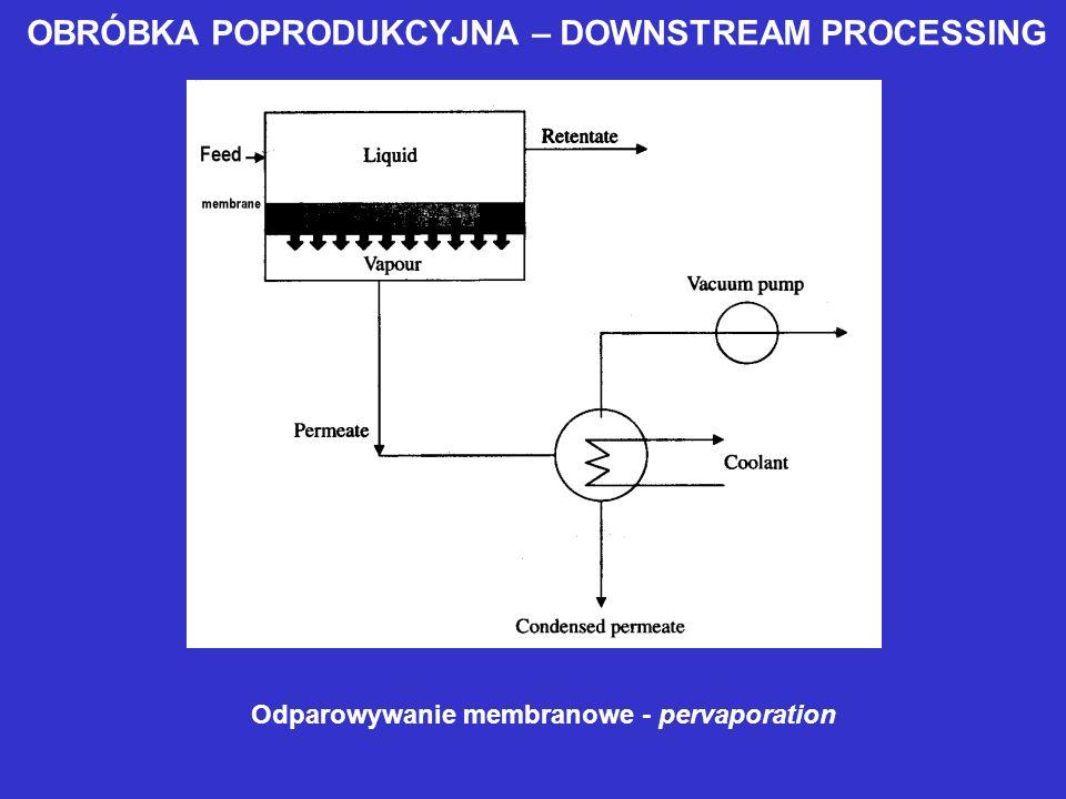 OBRÓBKA POPRODUKCYJNA – DOWNSTREAM PROCESSING Odparowywanie membranowe - pervaporation
