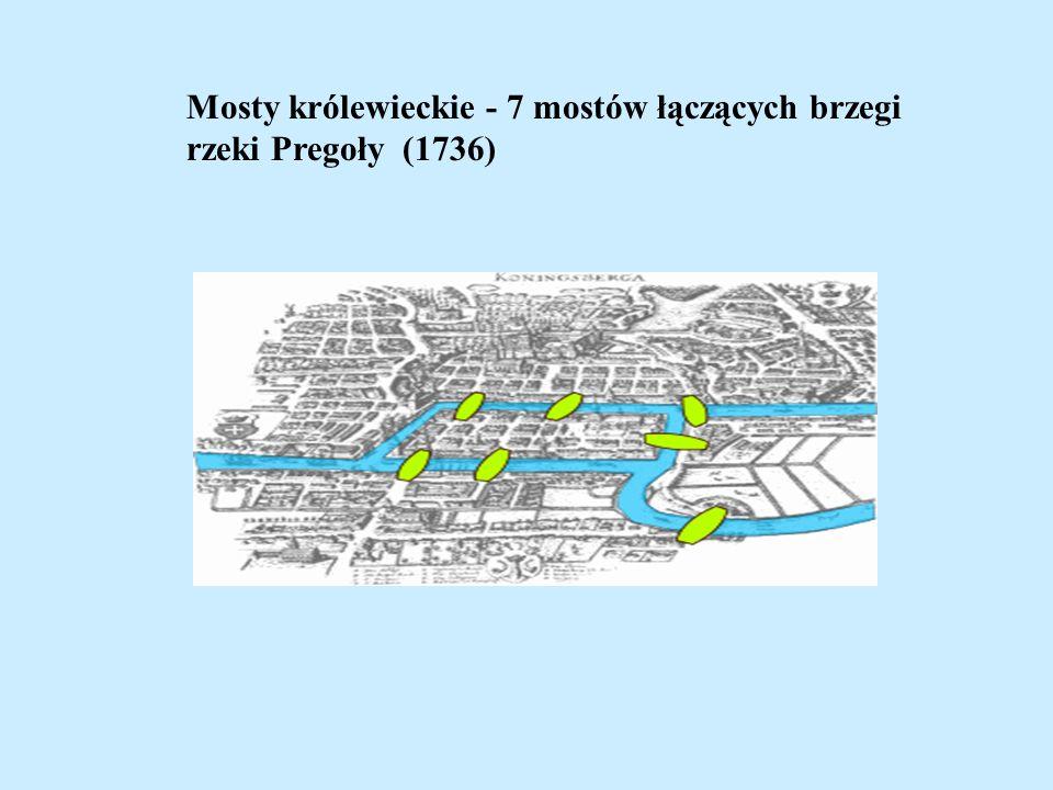 Mosty królewieckie - 7 mostów łączących brzegi rzeki Pregoły (1736)