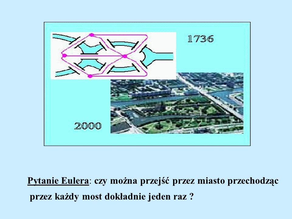 Pytanie Eulera: czy można przejść przez miasto przechodząc przez każdy most dokładnie jeden raz ?