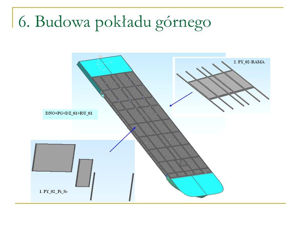 6. Budowa pokładu górnego