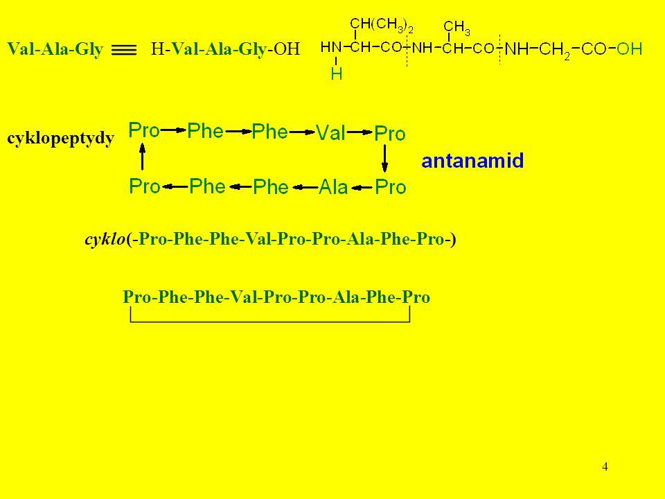 4 Val-Ala-GlyH-Val-Ala-Gly-OH cyklopeptydy cyklo(-Pro-Phe-Phe-Val-Pro-Pro-Ala-Phe-Pro-) Pro-Phe-Phe-Val-Pro-Pro-Ala-Phe-Pro