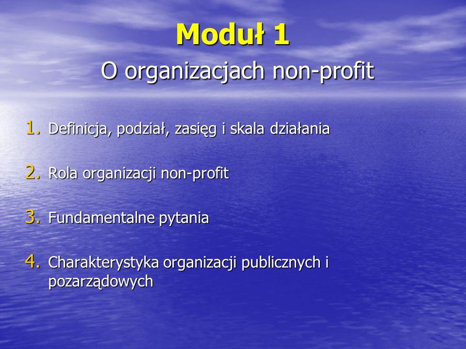 ORGANIZACJE NON-PROFIT Służą poprawie ogólnego poziomu życia społeczeństwa dzięki redystrybucji odpowiednich zasobów zasobów oraz dostarczenie dóbr fizycznych i usług.