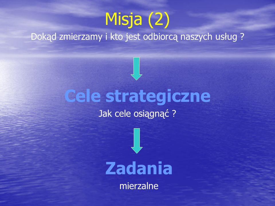 Misja (3) cele cząstkowe Cel 1.