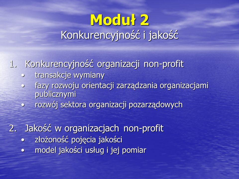 Moduł 3 Rola marketingu w sektorze publicznym i organizacjach pozarządowych 1.