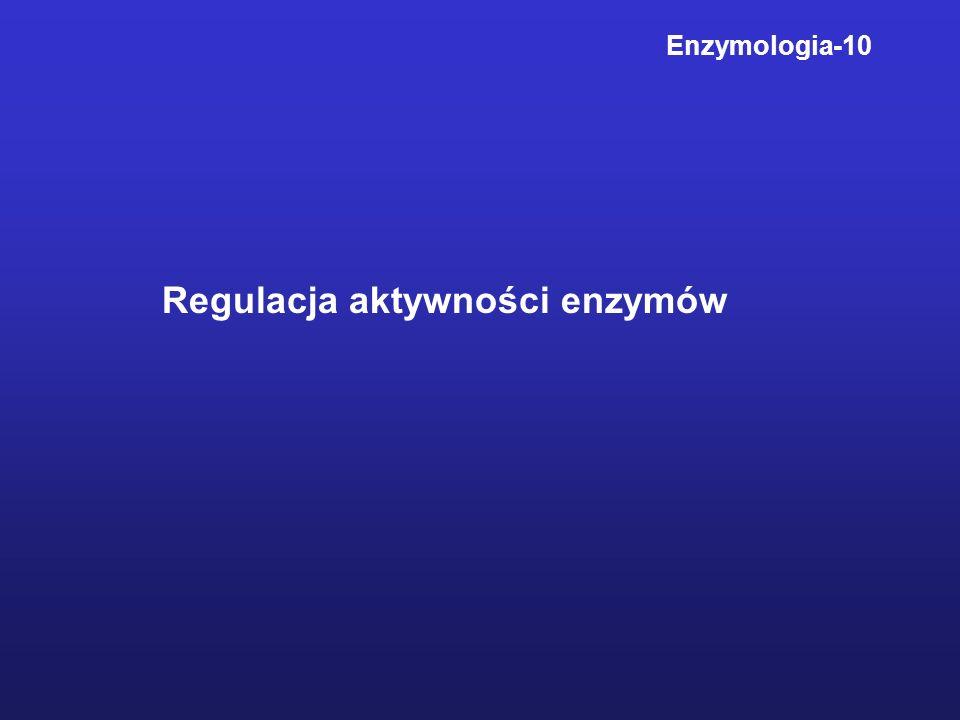 Regulacja aktywności enzymów Enzymologia-10