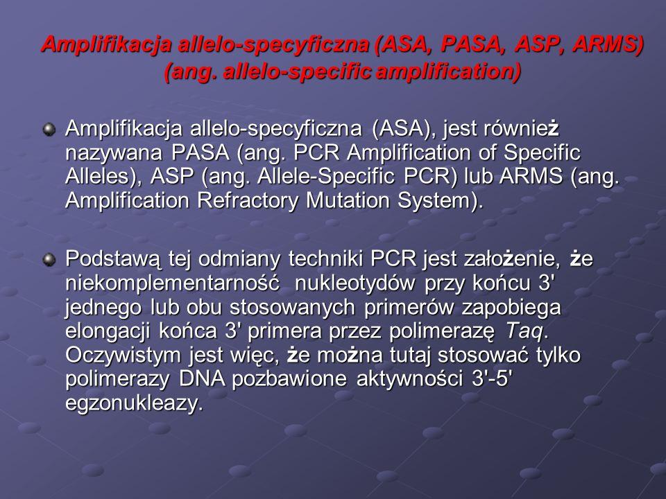 Wydajna inicjacja syntezy DNA w takim PCR jest determinowana przez sekwencję ostatniego lub dwóch ostatnich nukleotydów na końcu 3 primerów.
