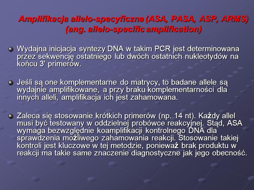 Czynniki wpływające na efektywność PCR Wiele różnych czynników może wpływać na efektywność amplifikacji DNA metodą PCR.