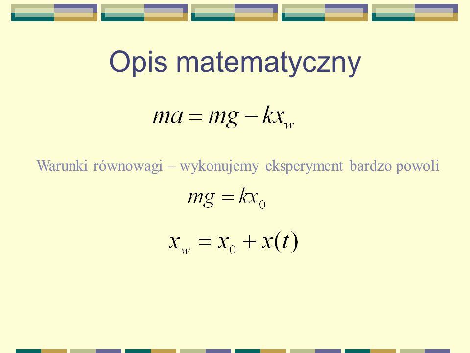 Opis matematyczny XwXw