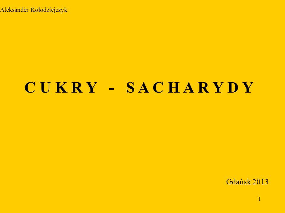 1 Aleksander Kołodziejczyk C U K R Y - S A C H A R Y D Y Gdańsk 2013