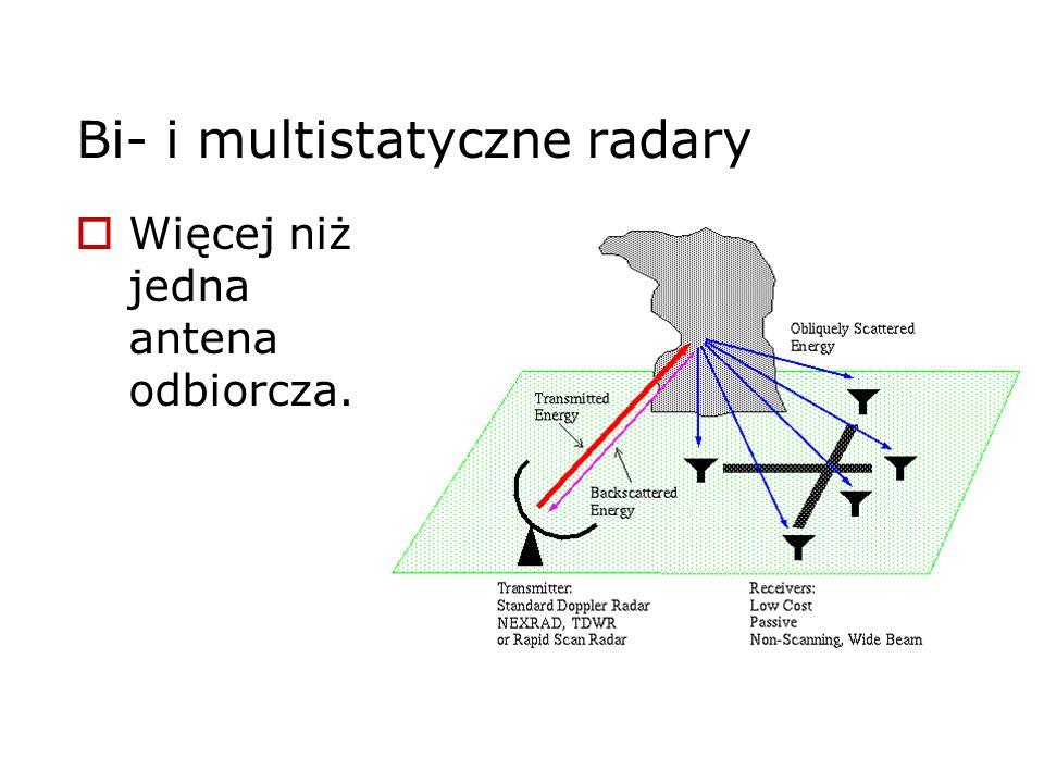 Bi- i multistatyczne radary Więcej niż jedna antena odbiorcza.
