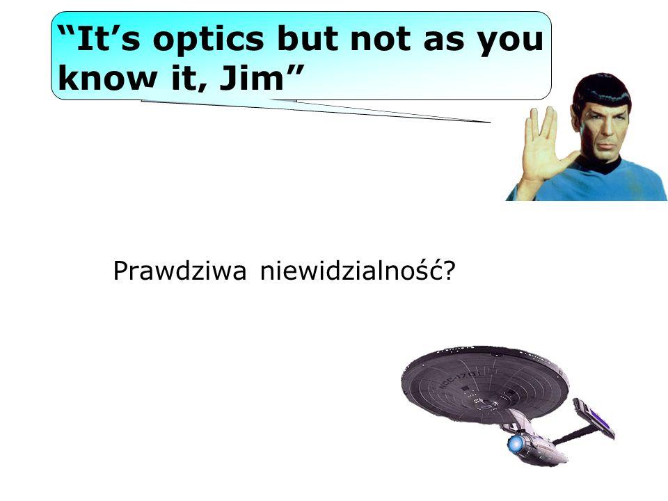 Its optics but not as you know it, Jim Prawdziwa niewidzialność?