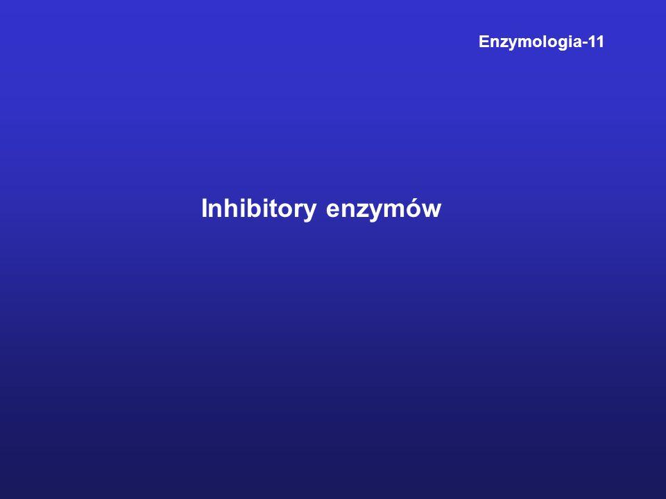 Inhibitory enzymów Enzymologia-11