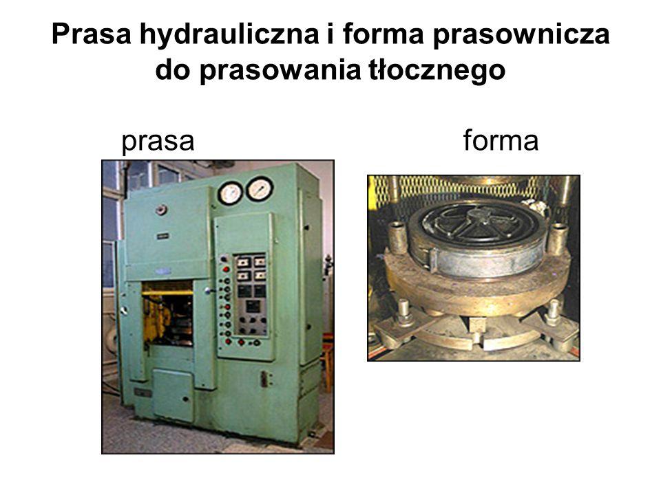 Prasa hydrauliczna i forma prasownicza do prasowania tłocznego prasa forma
