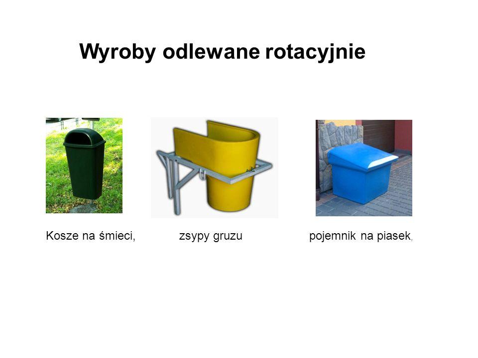 Kosze na śmieci, zsypy gruzu pojemnik na piasek, Wyroby odlewane rotacyjnie
