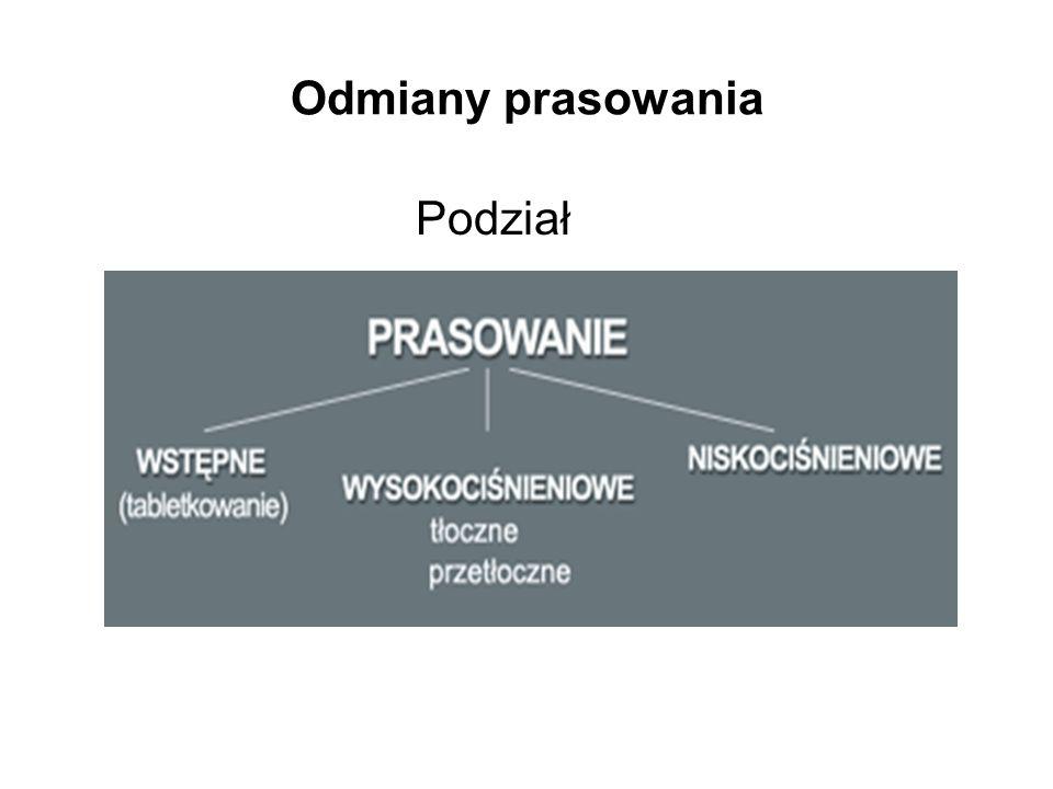 Cykl prasowania tłocznego zasypanie odmierzonej porcji tłoczywa do gniazd formujących prasowanie wstępne odgazowanie prasowanie właściwe otwarcie formy i usunięcie detali z formy