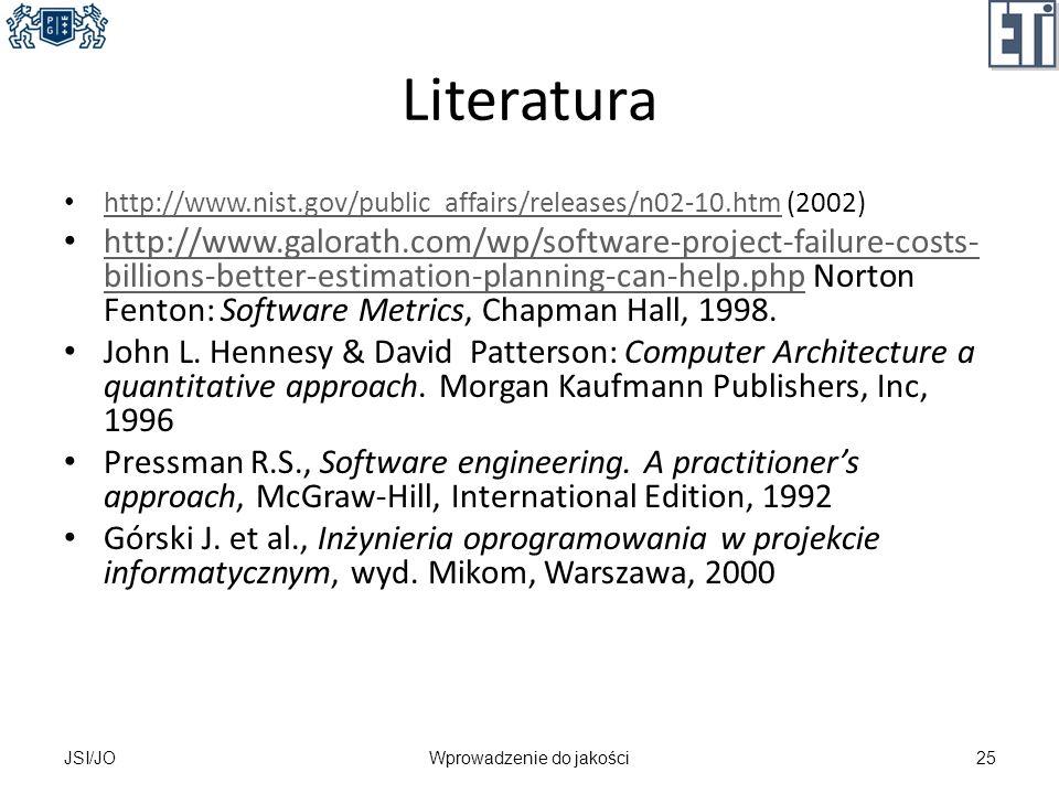 Literatura http://www.nist.gov/public_affairs/releases/n02-10.htm (2002) http://www.nist.gov/public_affairs/releases/n02-10.htm http://www.galorath.co