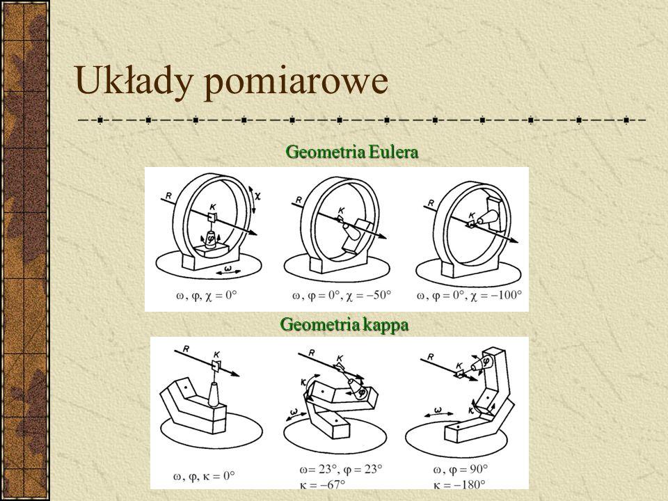 Układy pomiarowe Goniometr czterokołowy - geometria Eulera