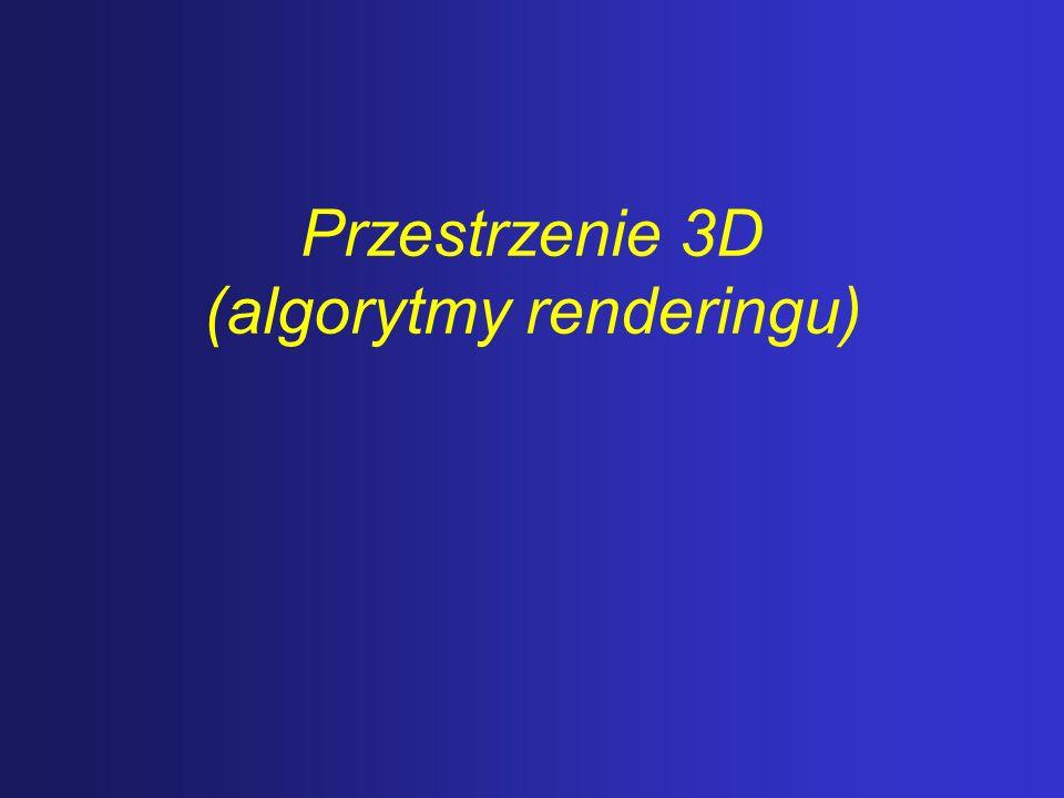 Rendering – proces przekształcania opisu świata, uzyskanego po modelowaniu, w pełnokolorowy obraz.