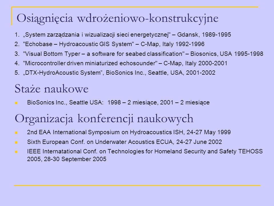Osiągnięcia wdrożeniowo-konstrukcyjne 1. System zarządzania i wizualizacji sieci energetycznej