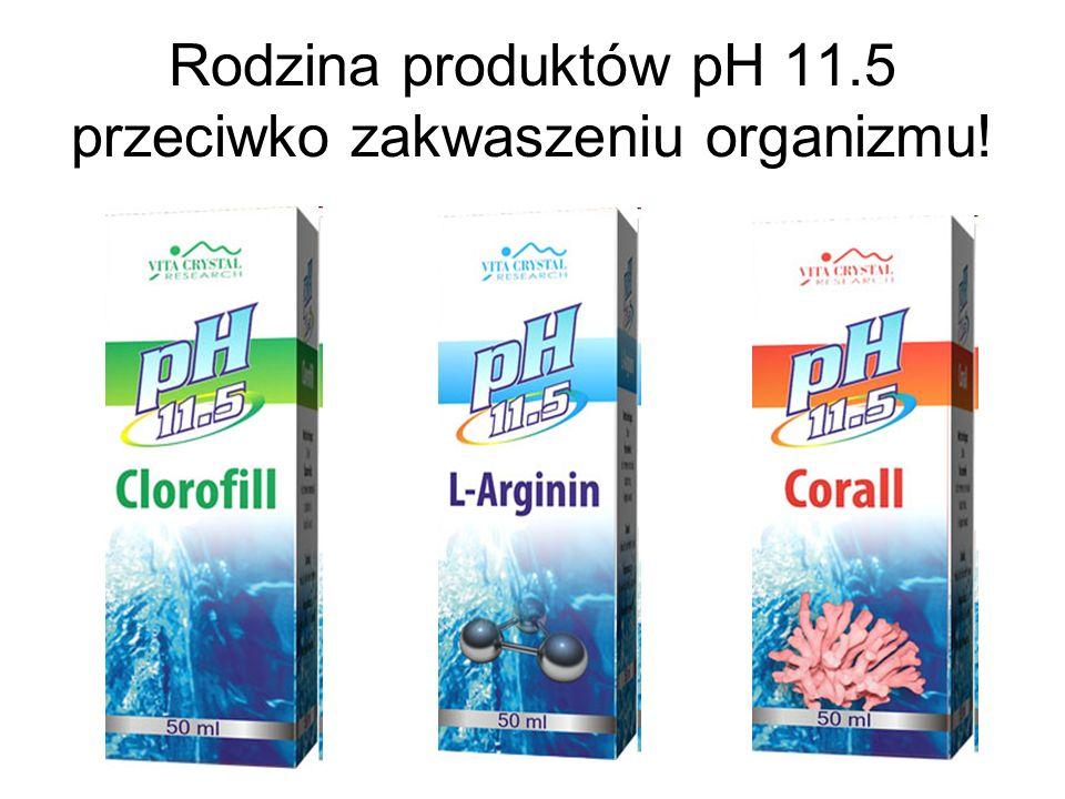 Rodzina produktów pH 11.5 przeciwko zakwaszeniu organizmu!