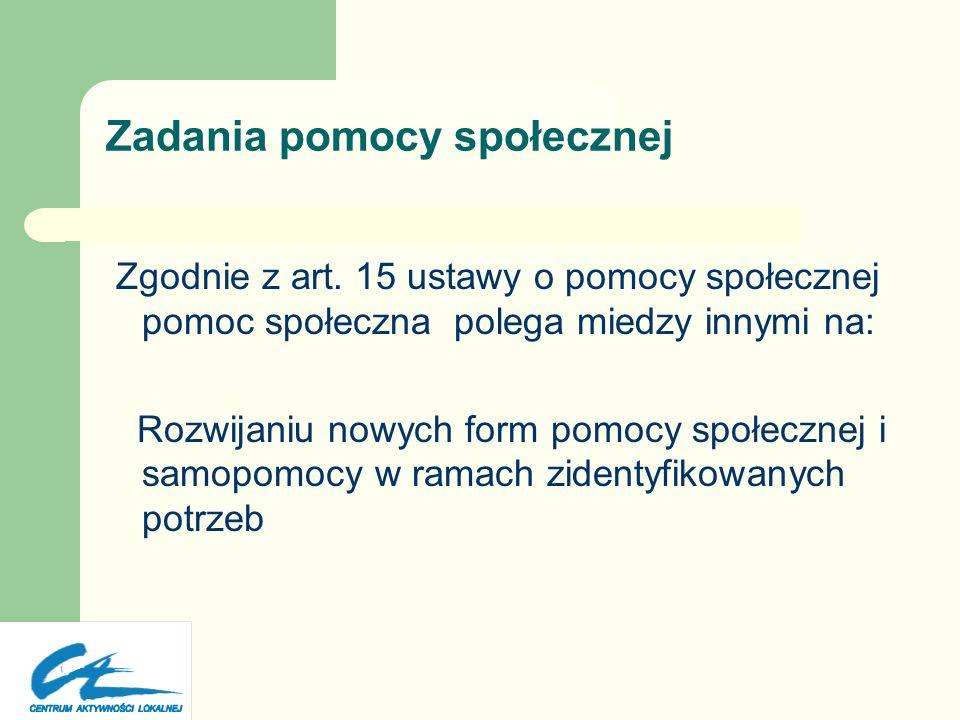 Wyzwania pomocy społecznej w Polsce – Od pomocy do samopomocy – Od zasiłków do partnerstwa i podmiotowości – Od pracy dla do pracy przez i z ludźmi