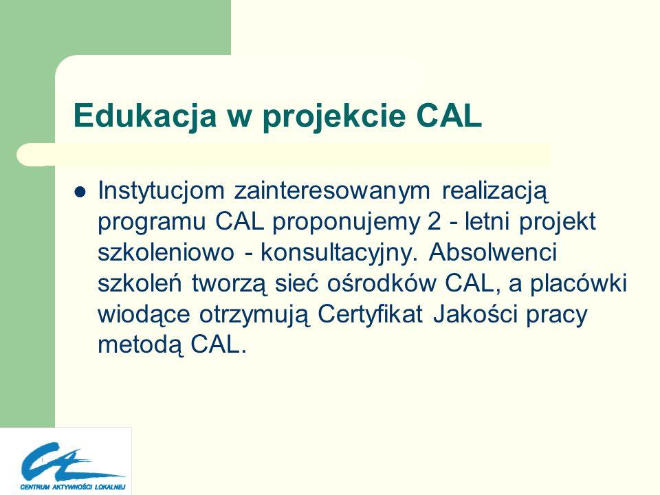 Uczestnicy projektu CAL Osoby będące w stanie podjąć decyzję w imieniu instytucji, którą reprezentują: LIDERZY& PRACOWNICY Liderzy organizacji pozarzą