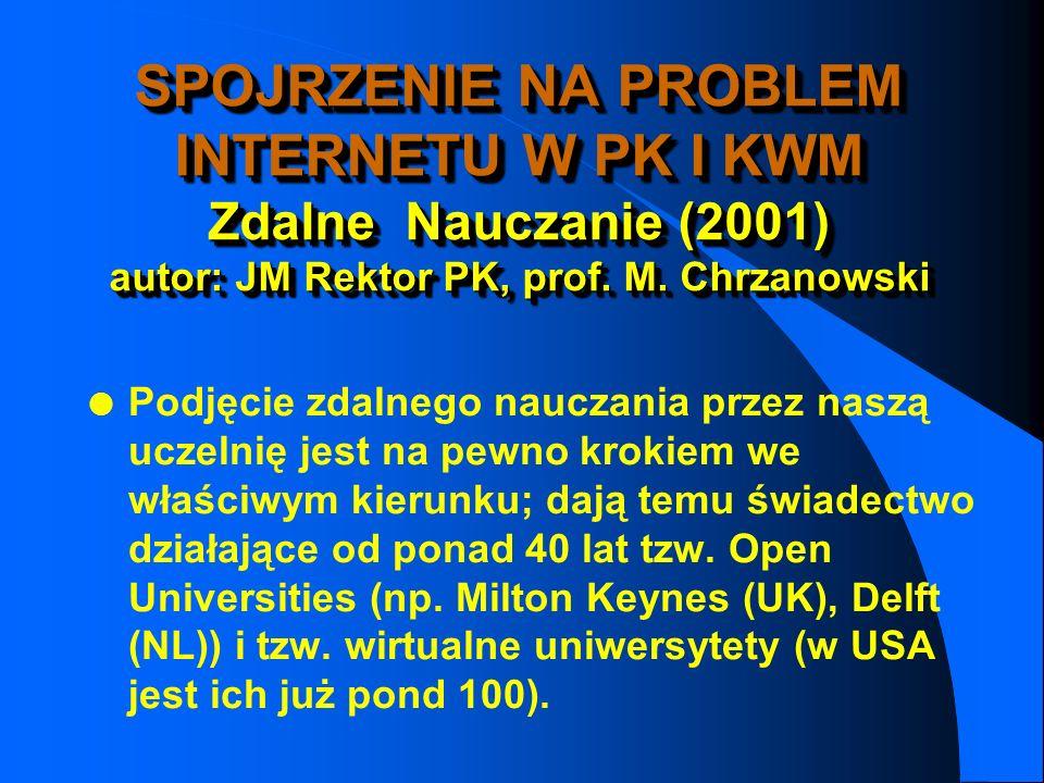 INTERNET W DYDAKTYCE n Misja czy Usługa ? l student – klient l nauczyciel – dostawca wiedzy l wiedza – umiejętności (kompetencje)