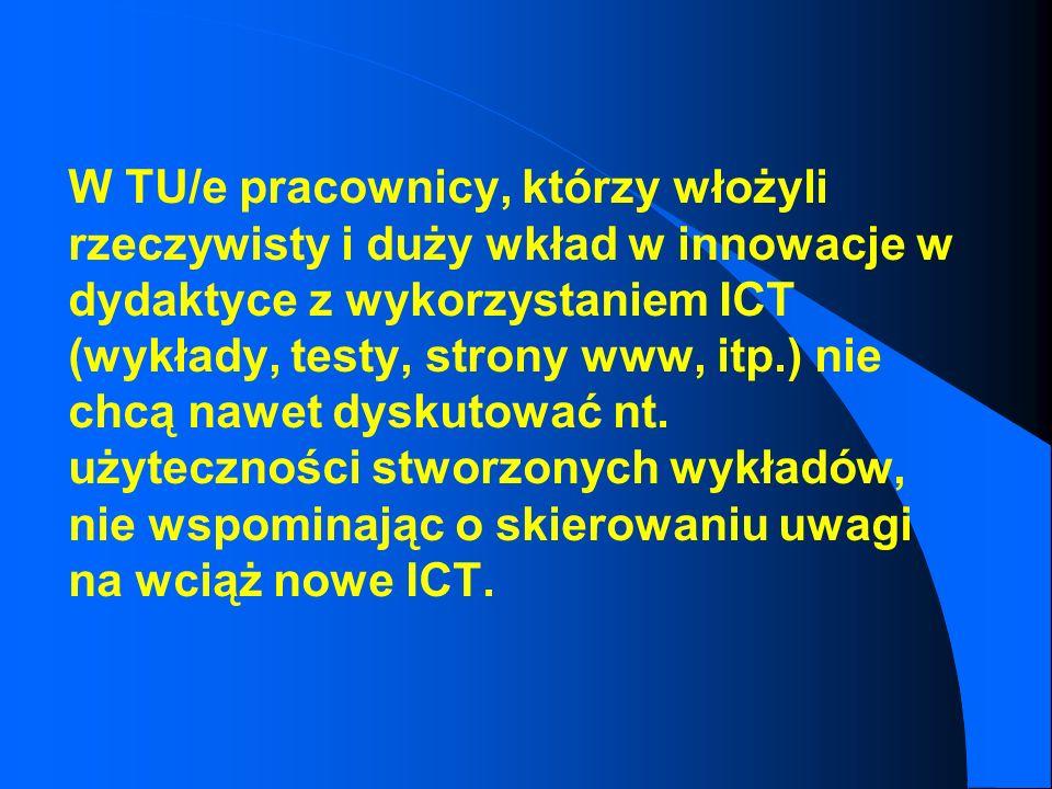 edukacyjny stan początkowy wprowadzenie ICT do dydaktyki wzmożony entuzjazm dla nowości i duży wysiłek kreacyjny pracowników NOWY, ROZWINIĘTY stan edu