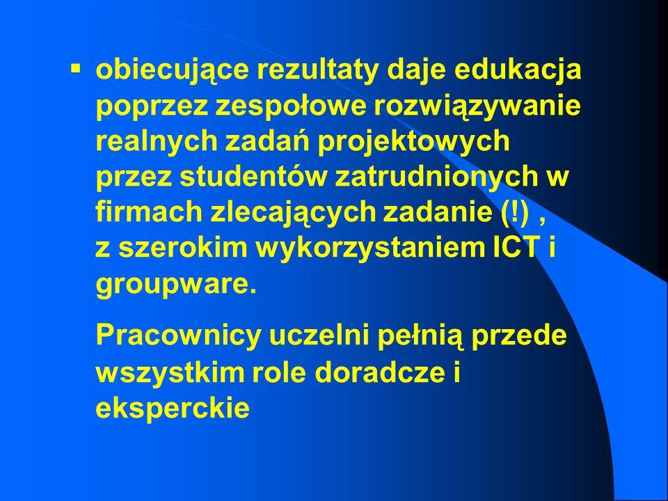 l Obserwacje wynikajace z projektu ICT: ICT nie koniecznie jest tożsame z innowacyjnością edukacyjną warto ponownie przemyśleć stosowane wzorce dydakt