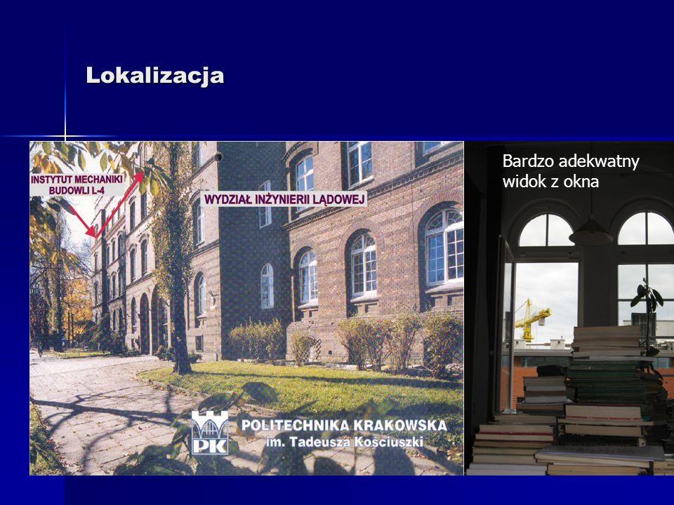 Biblioteka Instytutu Mechaniki Budowli Politechniki Krakowskiej Lokalizacja Lokalizacja Budżet Budżet Wyposażenie Wyposażenie Wykształcenie biblioteka