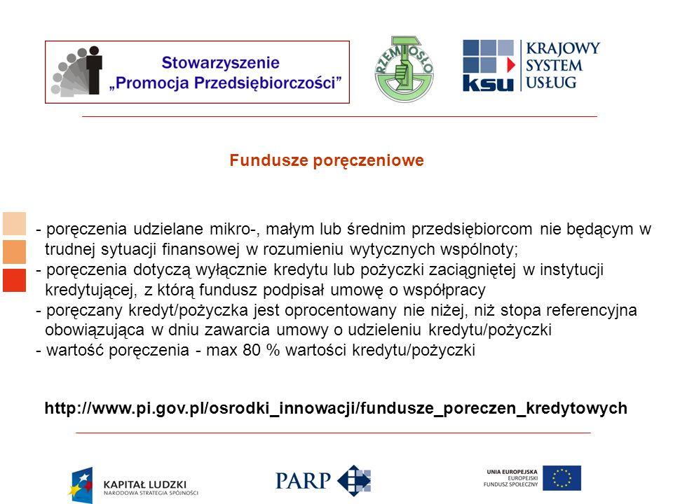 Logo ośrodka KSU Fundusze poręczeniowe - poręczenia udzielane mikro-, małym lub średnim przedsiębiorcom nie będącym w trudnej sytuacji finansowej w ro