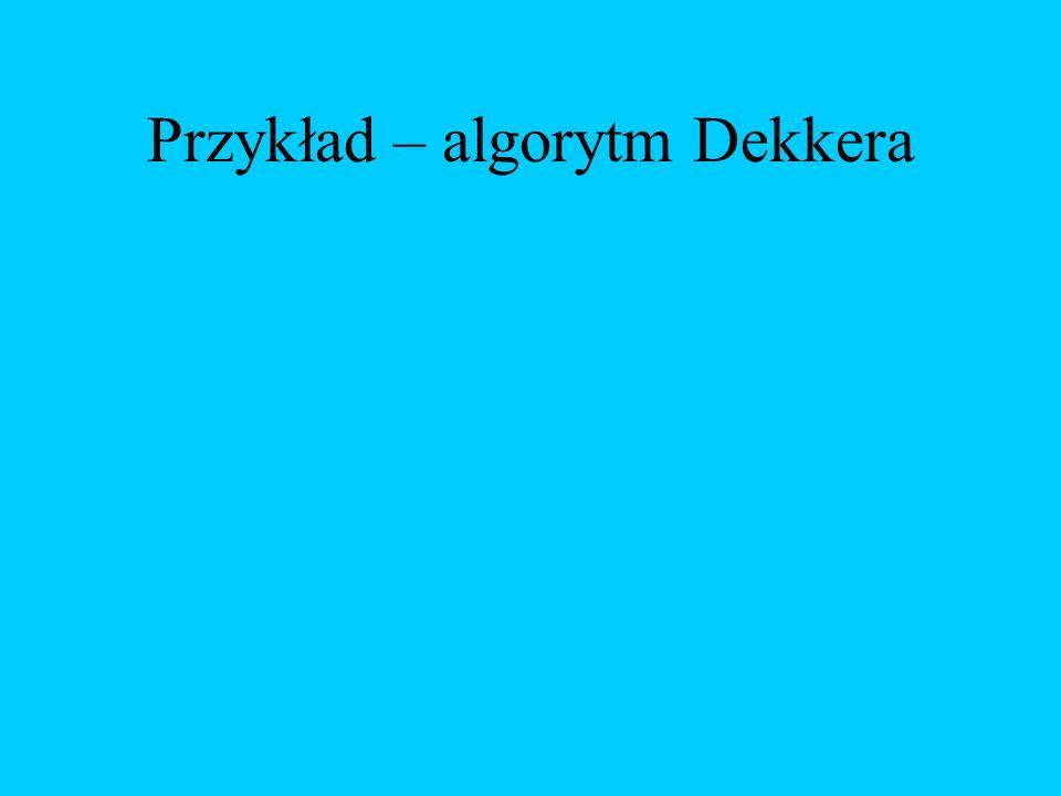 Przykład – algorytm Dekkera