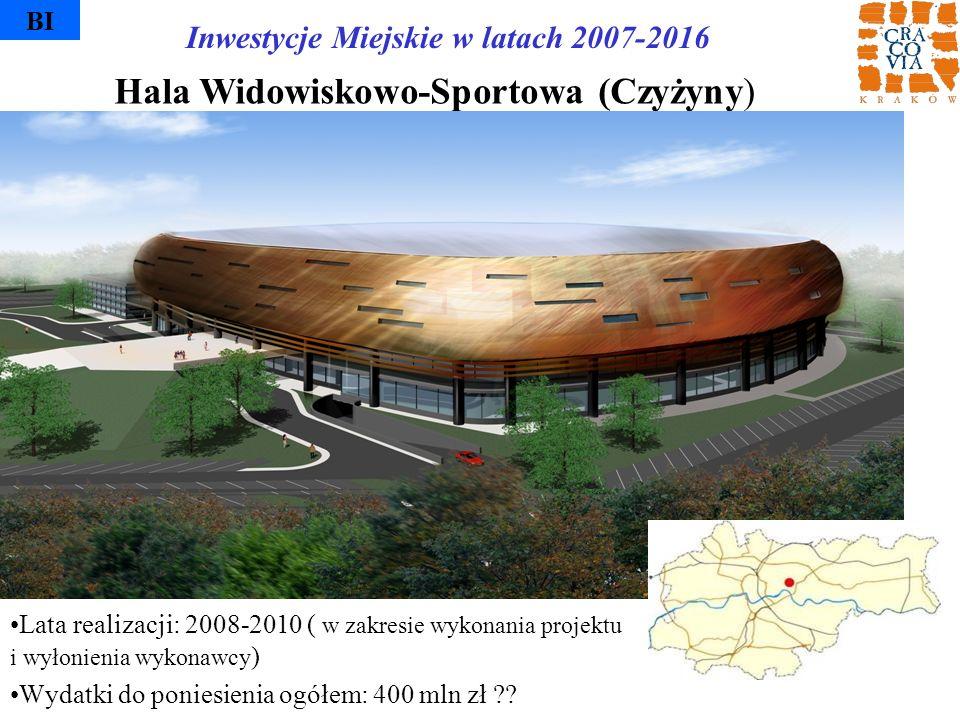 Hala Widowiskowo-Sportowa (Czyżyny) BI Lata realizacji: 2008-2010 ( w zakresie wykonania projektu i wyłonienia wykonawcy ) Wydatki do poniesienia ogół