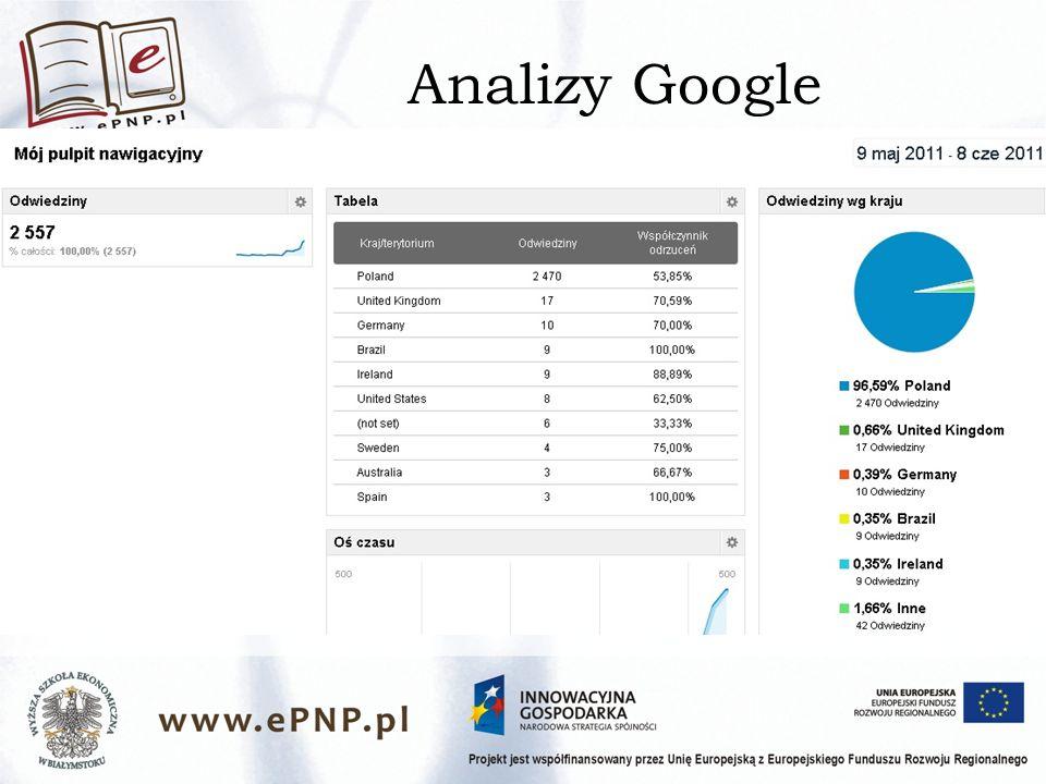 Analizy Google