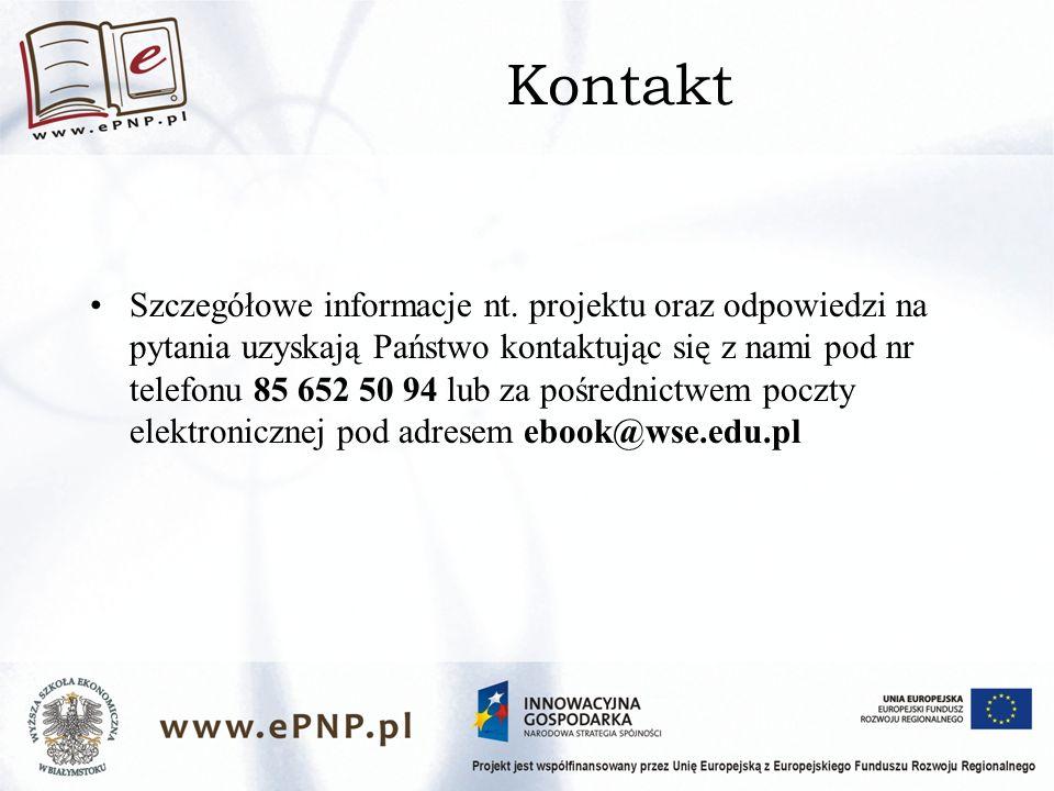 Kontakt Szczegółowe informacje nt.