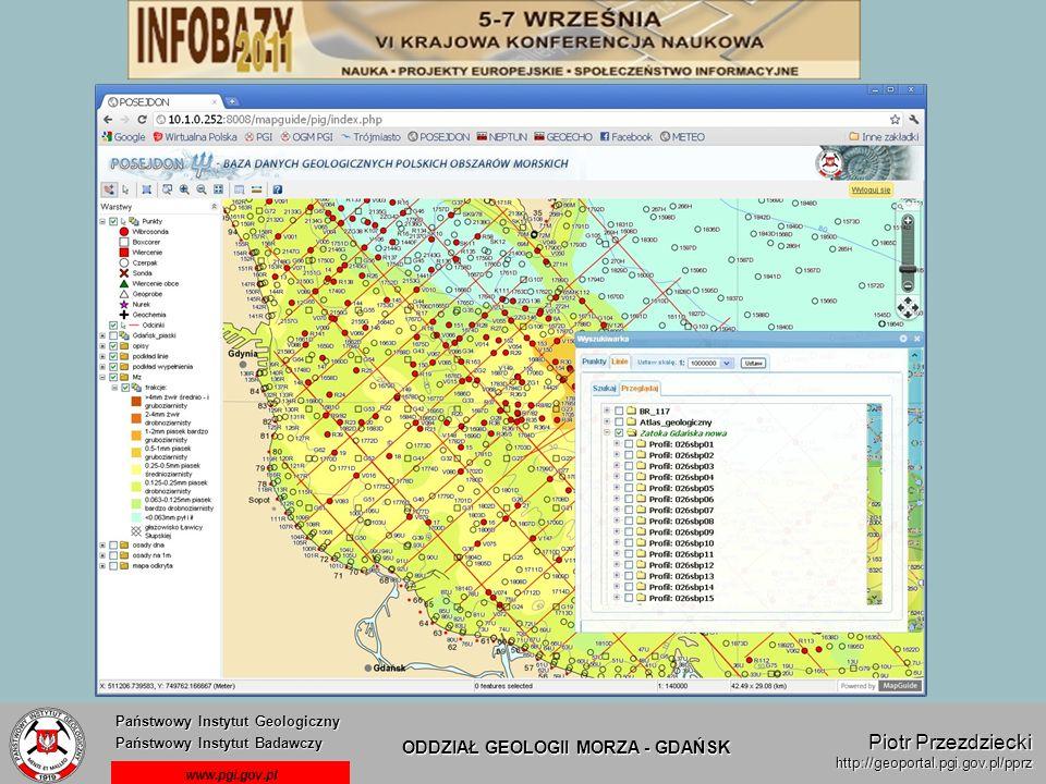 Państwowy Instytut Geologiczny Państwowy Instytut Badawczy Państwowy Instytut Geologiczny Państwowy Instytut Badawczy ODDZIAŁ GEOLOGII MORZA - GDAŃSK www.pgi.gov.pl Piotr Przezdziecki http://geoportal.pgi.gov.pl/pprz
