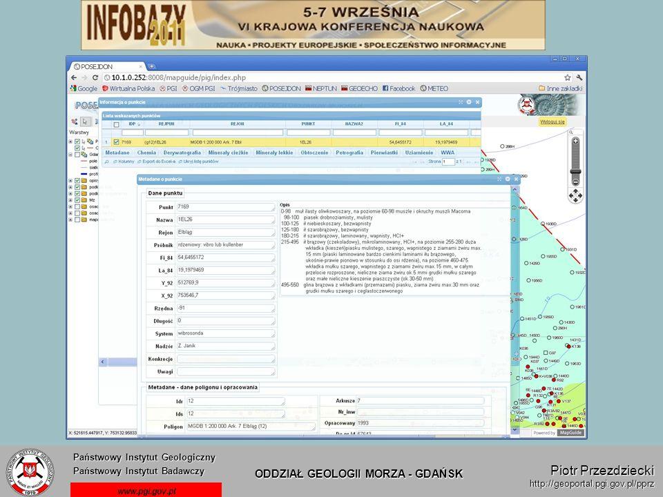 Państwowy Instytut Geologiczny Państwowy Instytut Badawczy Państwowy Instytut Geologiczny Państwowy Instytut Badawczy ODDZIAŁ GEOLOGII MORZA - GDAŃSK
