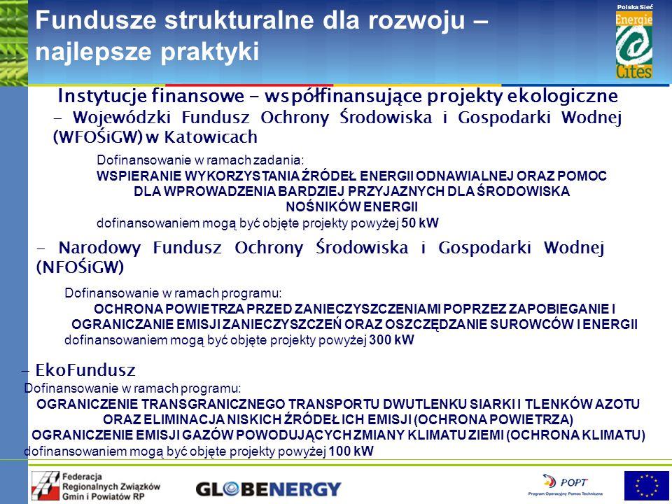 www.pnec.org.pl Polska Sieć www.dobrepraktyki.org.pl Fundusze strukturalne dla rozwoju – najlepsze praktyki URZĄDZENIE PRZYJAZNE ŚRODOWISKU Pompa ciep