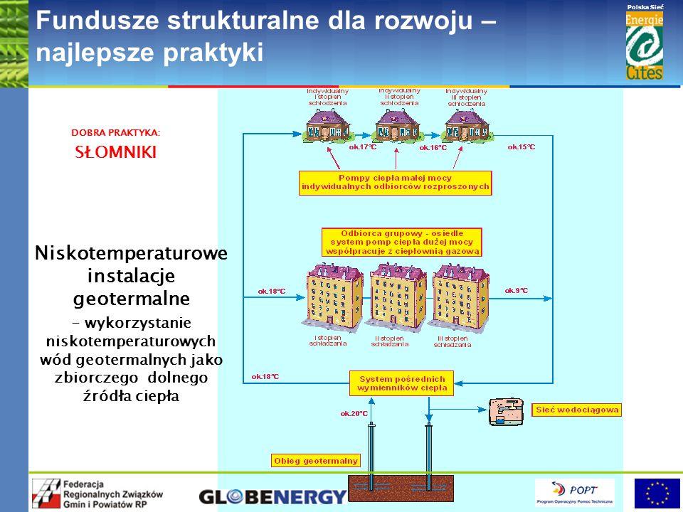 www.pnec.org.pl Polska Sieć www.dobrepraktyki.org.pl Fundusze strukturalne dla rozwoju – najlepsze praktyki Niskotemperaturowe instalacje geotermalne - wykorzystanie niskotemperaturowych wód geotermalnych jako zbiorczego dolnego źródła ciepła DOBRA PRAKTYKA: SŁOMNIKI