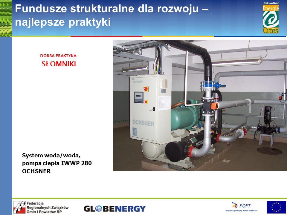 www.pnec.org.pl Polska Sieć www.dobrepraktyki.org.pl Fundusze strukturalne dla rozwoju – najlepsze praktyki System woda/woda, pompa ciepła IWWP 280 OCHSNER DOBRA PRAKTYKA: SŁOMNIKI