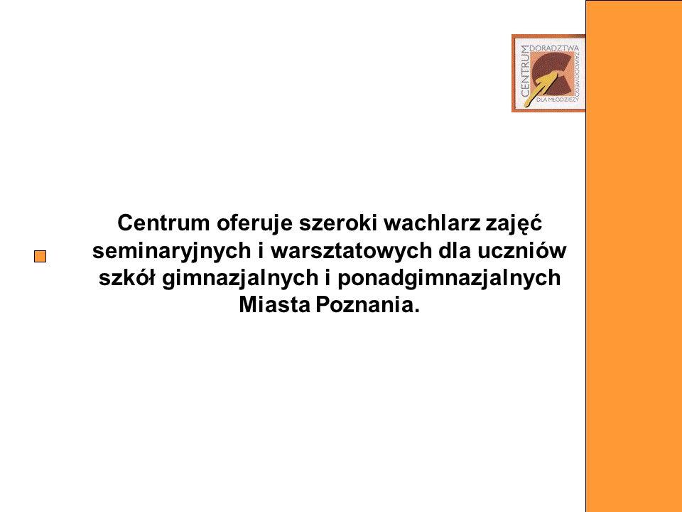 Wiedza o rynku pracy dotycząca następujących zagadnień: www.city.poznan.pl/cdz