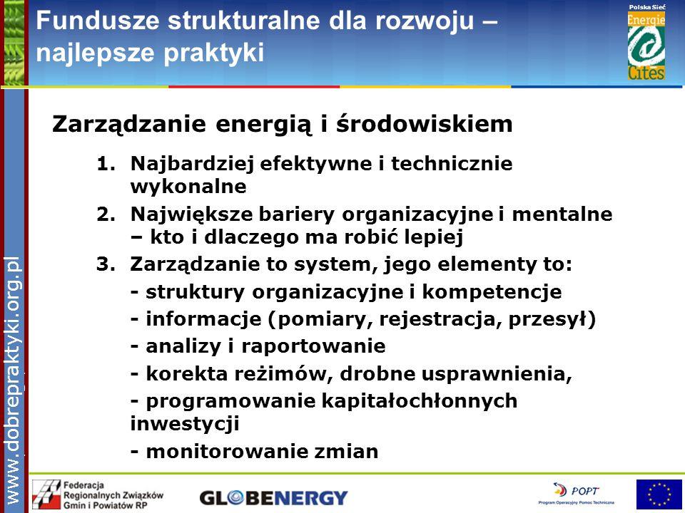 www.pnec.org.pl Polska Sieć www.dobrepraktyki.org.pl Fundusze strukturalne dla rozwoju – najlepsze praktyki Zarządzanie energią i środowiskiem 1.Najba