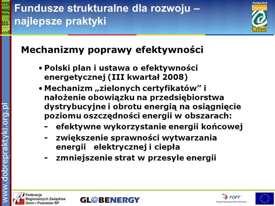 www.pnec.org.pl Polska Sieć www.dobrepraktyki.org.pl Fundusze strukturalne dla rozwoju – najlepsze praktyki Mechanizmy poprawy efektywności Polski pla